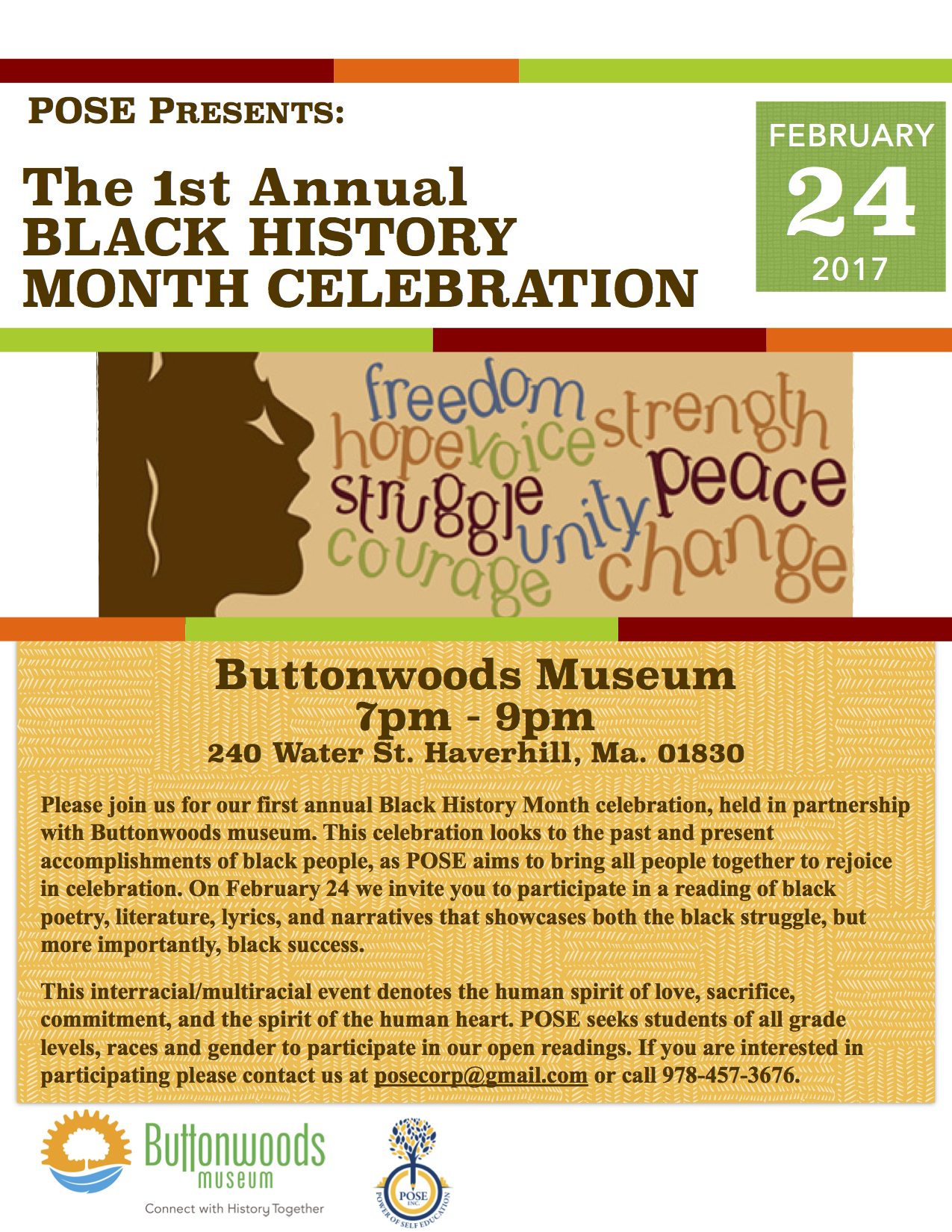 1st annual black history month celebration at buttonwoods 224 bhm flyer stopboris Images